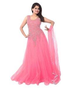 Best Ethnic Pink Net Party Wear Gown