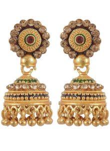 Jewelstone Brass Gold Plated Jhumki for Women