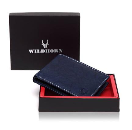 WildHorn Blue Mens Wallet Lowest online
