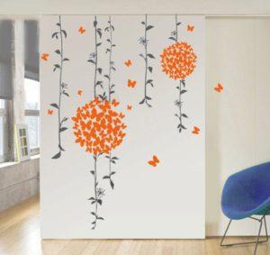 Decals Design Butterflies Wall Sticker PVC Vinyl 50 cm x 70 cm