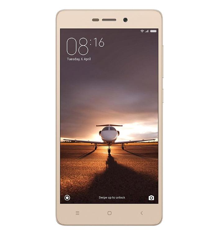Xiaomi Redmi 3S Gold in Rs. 6999