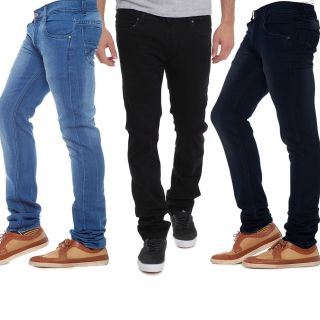3 Multicolor Mid Rise Jeans For Mens