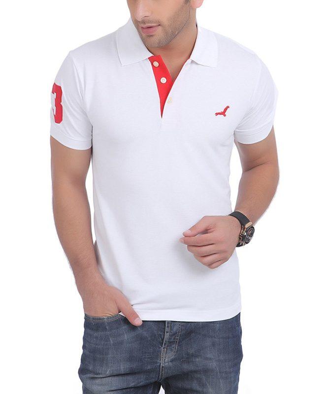 American Crew Mens Half Sleeve Solid T Shirt With No.3 Applique
