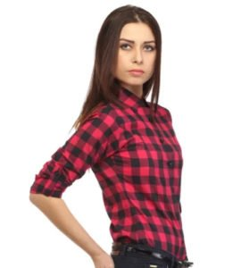 Cotton Check Shirts for Women Rs 255