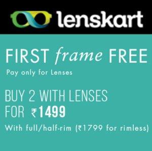 Get your First Frame Free at lenskart