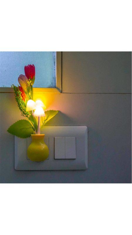 Mushroom Shaped Led Color Changing Night Lamp With Sensor Skycandle