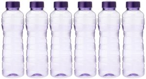 Princeware Victoria PET Fridge Bottle 975 ml Set of 6 Violet