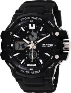 Skmei 0990BLK Rugged Analog Digital Watch For Men