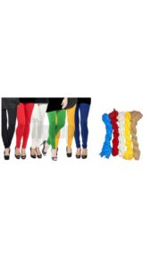 Tiptop pack of 11 6 Cotton Leggings 5 Net Duppatas Tiptop