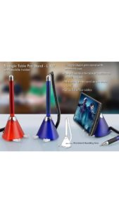 Triangle Table Pen Stand With Mobile Holder