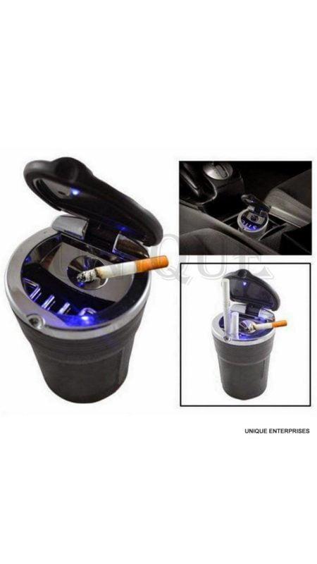 Unique Designer Cigarette Ashtray With Blue Led Light For Car