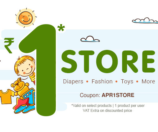 Buy any Products from Firstcry in Rs. 1