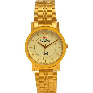 HMT Gold Plated Mens Analog Watch