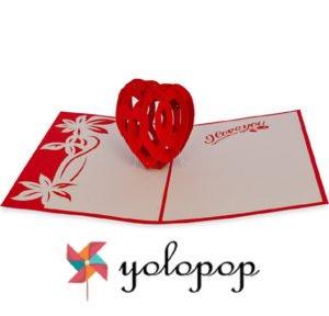 Handmade Pop Up Greeting Card by Yolopop