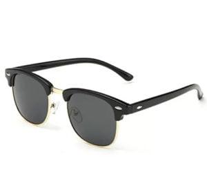 Heartisan Men Women Black Lens Sunglasses