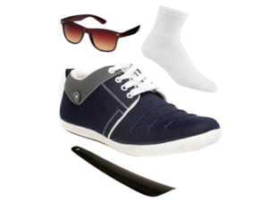 Island Denim Blue Casuals Shoes 4 in 1 COMBO