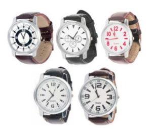 Jack Klein Set of 5 Analog Round Wrist Watches