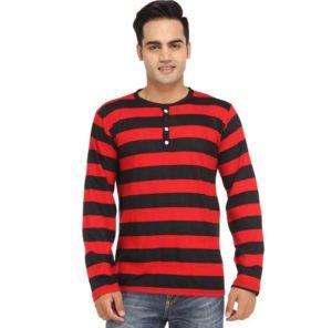 Leana Striped Full Sleeve Mens T Shirts