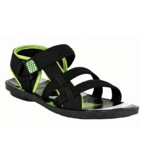 Pu Shot Stylish Green Floater Sandals