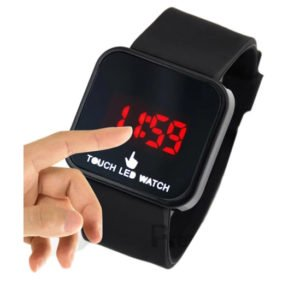 Black Touch Screen LED Watch in Rs. 98
