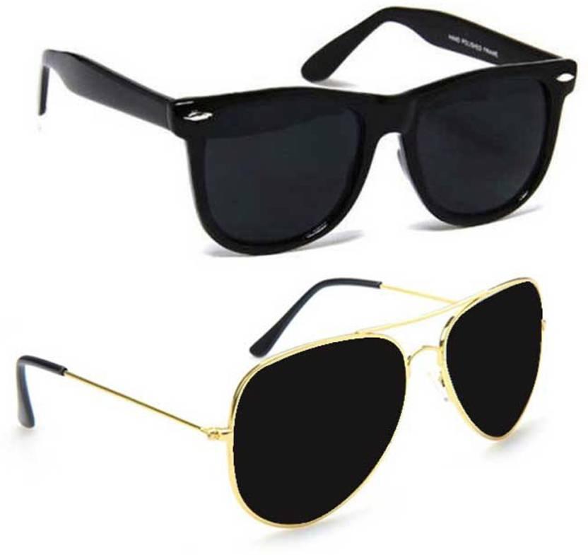 Epic Ink ncm011 Aviator Wayfarer Sunglasses Black Black