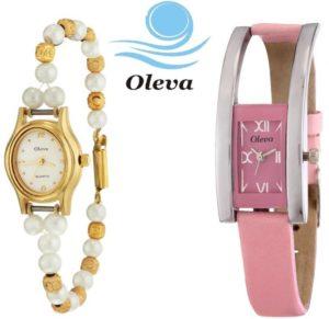 Oleva OVD 164 Combo Analog Watch For Women