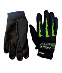 One Stop Shop Monster Motorcycle Hand Gloves Black Free Size