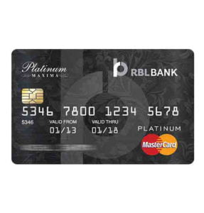 apply for rbl platinum maxima credit card and avail discounts