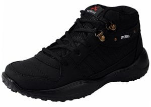 Chevit Mens Stylish 416 Black Tracking Casual Running Shoes Joggers Sports Shoes