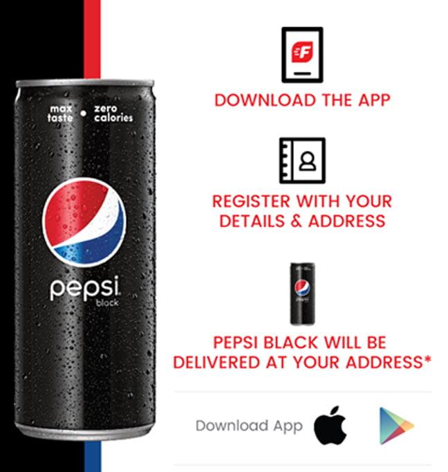 Download Sign up Get Free Free Pepsi Black Drink