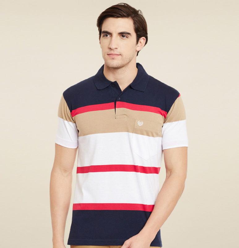 Duke White Navy Polo T Shirt Starting 266