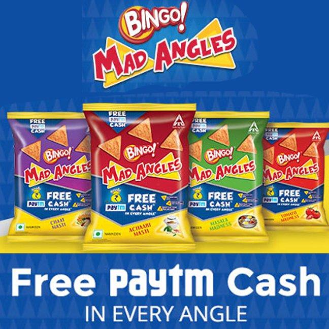 Free Paytm Cash with Bingo Mad Angles