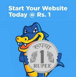 Get Hostgator Hosting in Rs. 1 only
