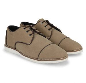 Provogue Stylish Corporate Casuals Beige Shoes