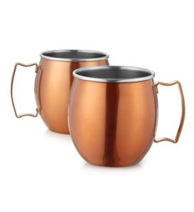 2 Stainless Steel Classic Mugs