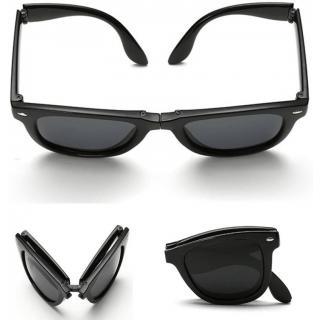 Austin Folding Black Wayfarer Sunglasses