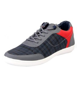 Braned T20 Greay and Red Sneakers