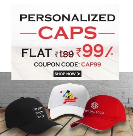 Buy or Gift Personalised Caps in Rs. 99