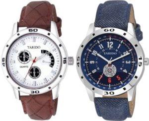 Tarido TD1173SL02 TD1503SL04 Combo Analog Digital Watch For Men