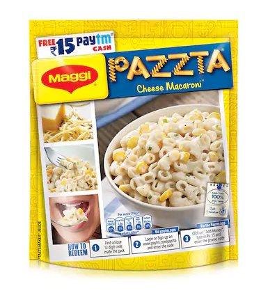 3 Maggi Pazzta Cheese Macaroni Rs. 15 Paytm Cash