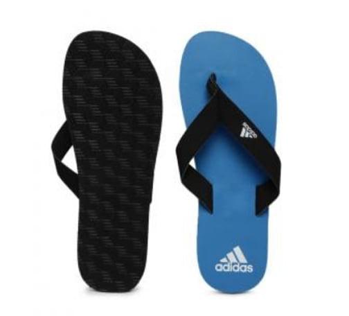 Adidas Eezay Max Out Black Blue Flip Flops