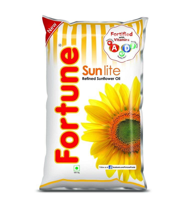 Fortune Sunlite Refined Sunflower Oil 1L DEL3
