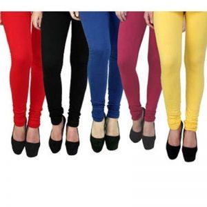 Rudraksha Cotton Lycra Leggings for Woman Pack of 5