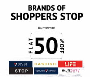 50 20 addition discounts on Shopper Stops Top Brands