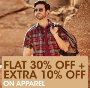 Flat 30 Extra 10 Discounts at Indian Terrain copy
