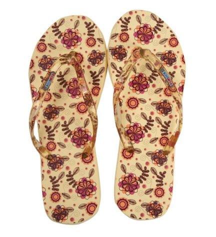 Flipside Sepia Pattern Slippers for Women