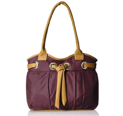 Meridian Classy purple Hand held Bag