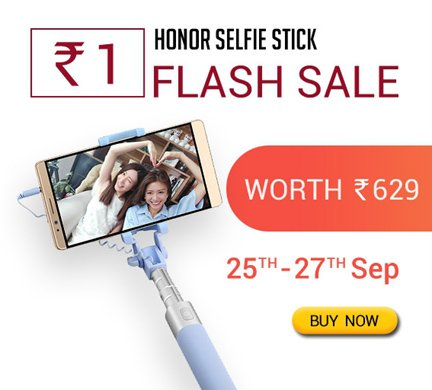 Selfie Stick at Rs. 1 with Free Shipping Many More