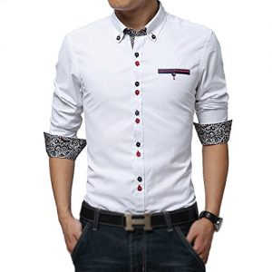 white fancy design shirt