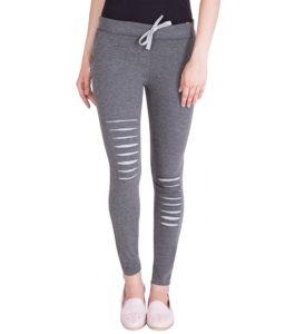American Elm Womens Stylish Dark Grey Cotton Joggers